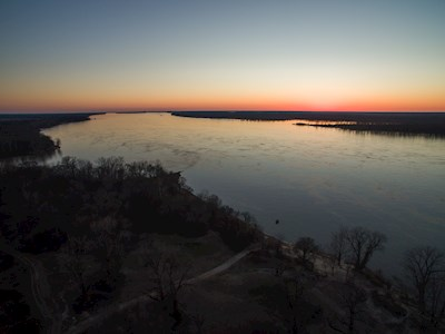 Mississippi River at dusk