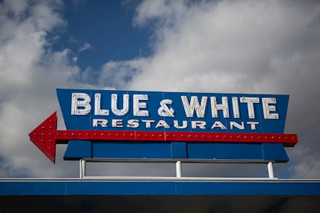 Breakfast, Lunch or Dinner...You can't go wrong at the Blue & White
