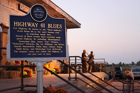 Trace the history of the blues down Highway 61.